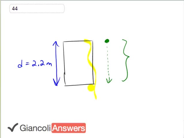 Giancoli 6th Edition Chapter 2 Problem 44